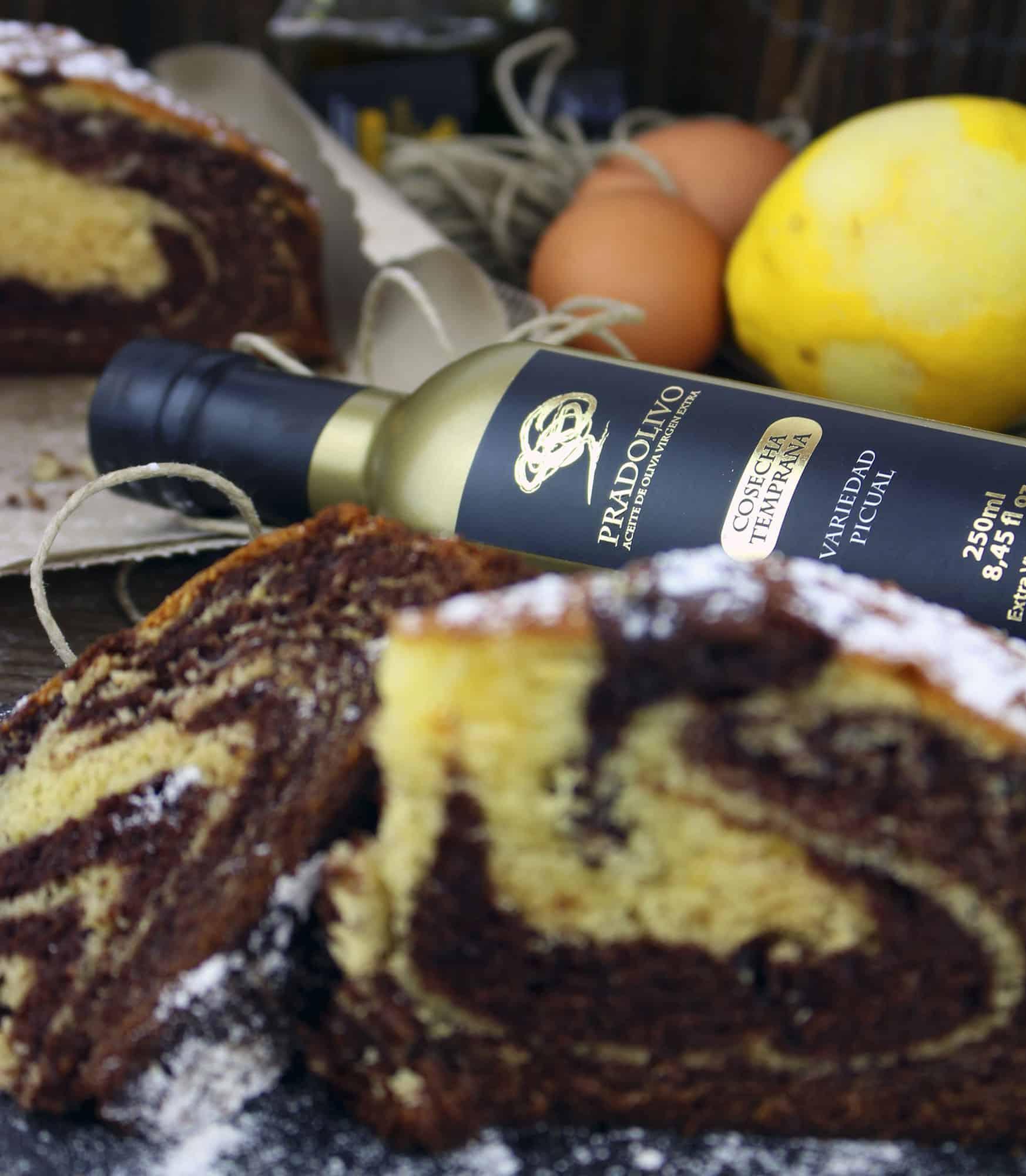 Bizcocho de chocolate con naranja con AOVE Pradolivo