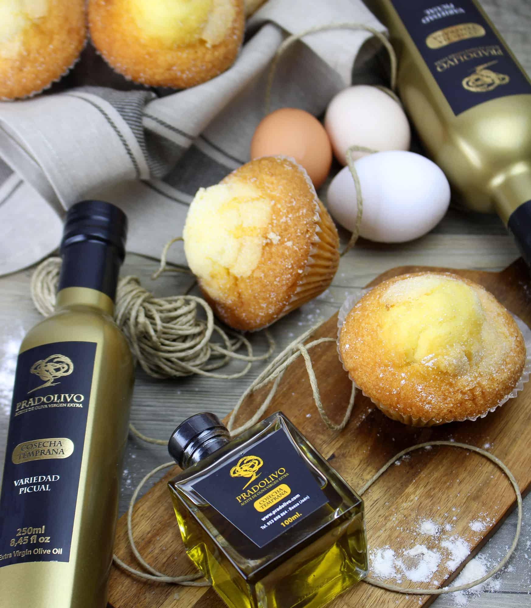 Receta magdalenas caseras con aceite de oliva