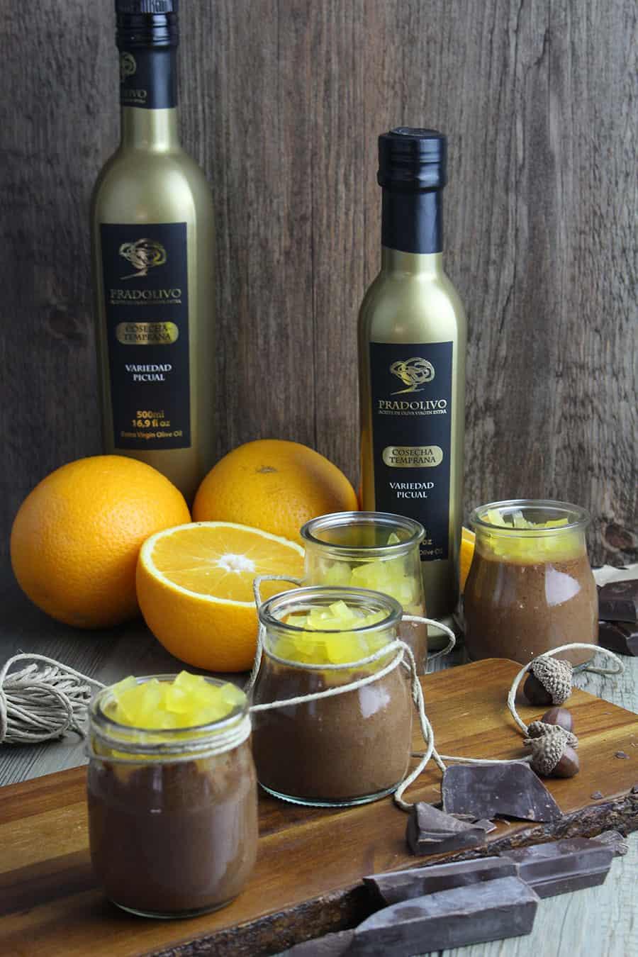 Mousse de chocolate y gelatina de naranja Mejor AOVE de Jaén