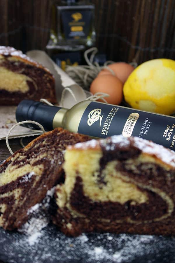 Bizcocho de Chocolate con Naranja y AOVE calidad superior de Pradolivo